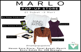 Marlo Pop-Up Store Tünel'de...